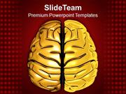 Golden Human Mind Graphics PowerPoint Templates PPT Themes And Graphic