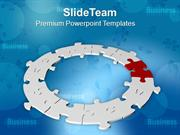 Jigsaw Puzzles Business And Process Circle PowerPoint Templates PPT Th