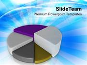 Pie Chart For Business And Marketing PowerPoint Templates PPT Themes A