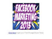 Free Ebook: Facebook Marketing 2013