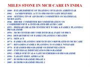 MILES STONE IN MATERNAL AND CHILD HEALTH  G P BASKARAN DSA
