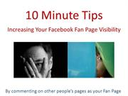 Facebook: How to Increase Visibility of Your Fan Page
