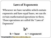laws-exponents