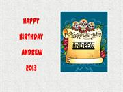Happy Birthday Andrew 2013