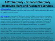 AMT Warranty - Extended-Warranty Improving Plans and Assistance Servic