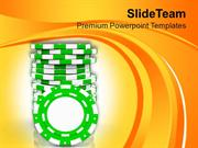 Poker Chips For Casino Theme PowerPoint Templates PPT Themes And Graph