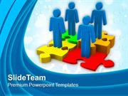 Work With Team For Better Result PowerPoint Templates PPT Themes And G