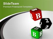 Dice For Casino Theme PowerPoint Templates PPT Themes And Graphics 051