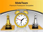 Play Chess With Limited Time PowerPoint Templates PPT Themes And Graph