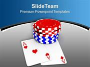 Poker Chips For Casino Game Theme PowerPoint Templates PPT Themes And