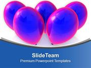Purple Balloons For Party Theme PowerPoint Templates PPT Themes And Gr