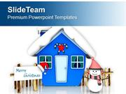 Snowman For Christmas Celebration PowerPoint Templates PPT Themes And