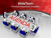 Solve The Agenda In Team Meeting PowerPoint Templates PPT Themes And G