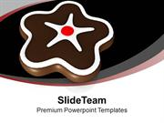 Chocolate Cookie For Celebration PowerPoint Templates PPT Themes And G