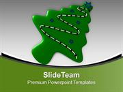 Cookie In Shape Of Christmas Tree PowerPoint Templates PPT Themes And