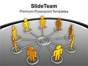 Create A Network And Team For Business PowerPoint Templates PPT Themes