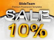 Enjoy The Discount Of Ten Percent PowerPoint Templates PPT Themes And