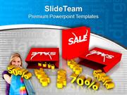 Save Money In Sale Season With Discount PowerPoint Templates PPT Theme
