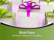 Surprise Your Loved Ones With Gifts PowerPoint Templates PPT Themes An