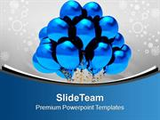 Blue Balloons For Celebration PowerPoint Templates PPT Themes And Grap