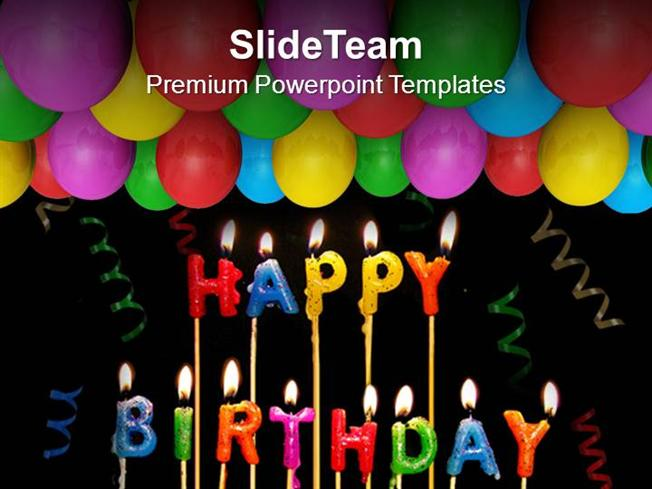 Celebrate Happy Birthday With Friends Powerpoint Templates
