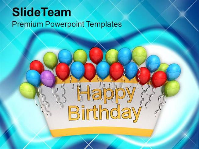 Celebration Theme For Birthday Powerpoint Templates Ppt Themes And