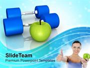Choose Your Fitness Mantra For Good Health PowerPoint Templates PPT Th