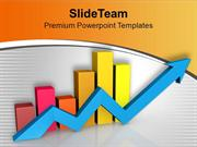 Fluctuation In Business Growth Bar Graph PowerPoint Templates PPT Them