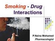 Smoking - Drug Interactions