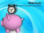 Saving Is Depend On Time PowerPoint Templates PPT Themes And Graphics