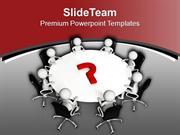 Solve The Question In Meeting PowerPoint Templates PPT Themes And Grap