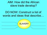 Africa and Slavery interview