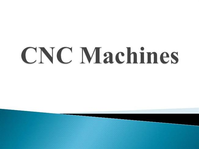 "Bhel summer training presentation on ""cnc machines""."