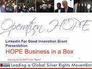 Linked in HOPE Business in a BOX presentation final recorded