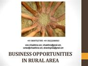 BUSINESS OPPORTUNITIES IN RURAL AREA