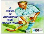 A Tribute To Dhyan Chand From Kolkata Pages