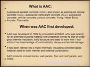 AAC (Autoclaved Aerated Concrete) Blocks