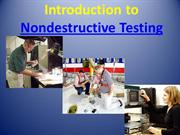 Introduction & Uses of Non Destructive Testing