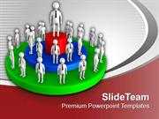 Team With Leader Success PowerPoint Templates PPT Themes And Graphics
