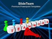 Teamwork Can Achieve Success PowerPoint Templates PPT Themes And Graph