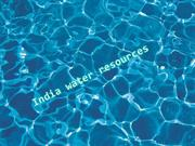 water resources in india