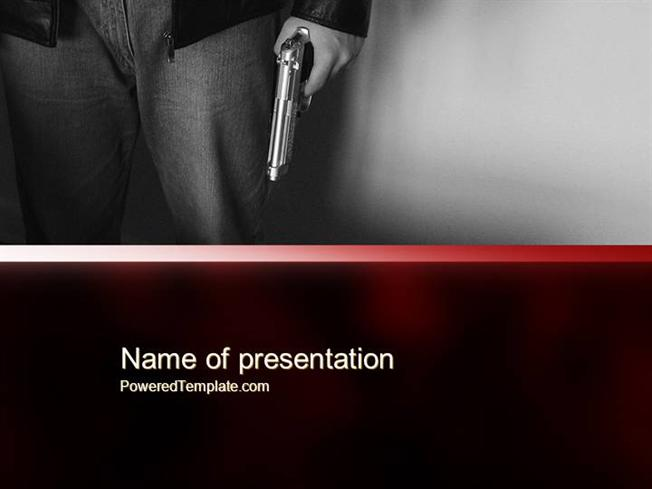 Man holding a gun powerpoint template authorstream toneelgroepblik Images