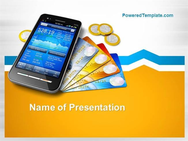 mobile banking powerpoint template |authorstream, Powerpoint templates