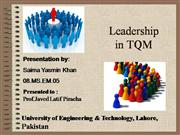 Leadership in TQM