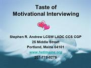 Motivational Interviewing- Day 1