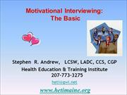 Motivational Interviewing - Day 2