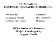 LIQUISOLID TECHNOLOGY ppt