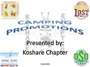 Koshare Chapter's Camping Promotions