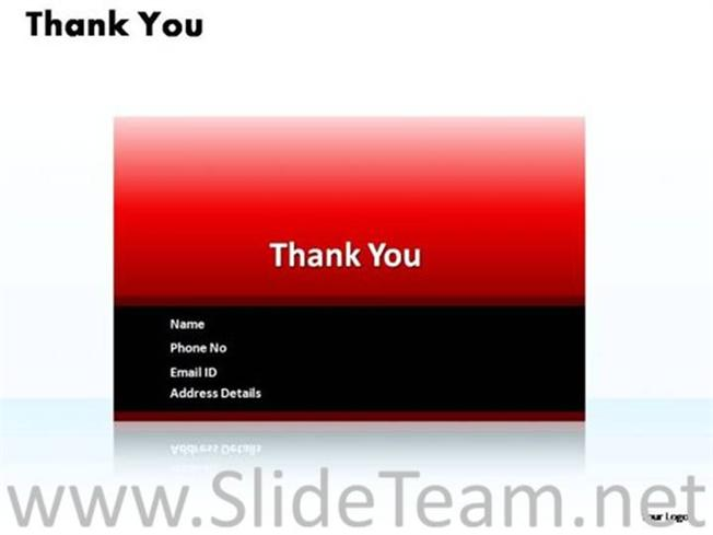 Thank You Contact Details Ppt Slide Powerpoint Diagram