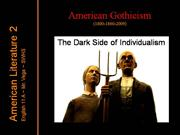 American Gothicism: Devil & Tom Walker